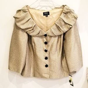 Adrianna Papell NWT gold evening  jacket size 16